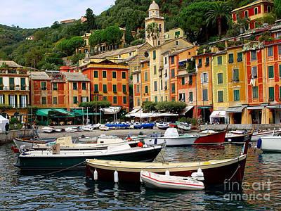 Portofino Italy Art Print by Nancy Bradley