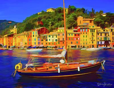 Painting - Portofino Italy by Wally Hampton
