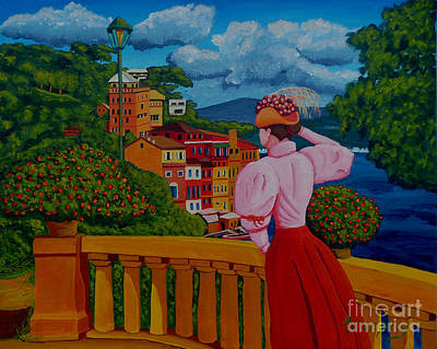 Painting - Portofino Lady by Anthony Dunphy