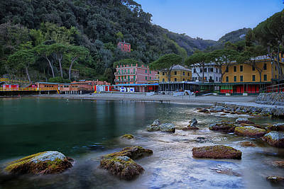 Portofino Mills Valley With Paraggi Bay And Beach Art Print