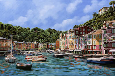 Portofino Nel 2012 Art Print by Guido Borelli