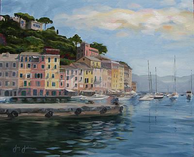 Portofino Port Art Print by Jay Johnson