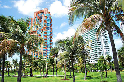 Photograph - Portofino Towers 2 South Beach Miami by Amanda Vouglas