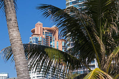 Photograph - Portofino Towers Miami Beach Florida Fl by Toby McGuire