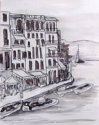 Portofino Value Study Art Print by Barbara O'Toole