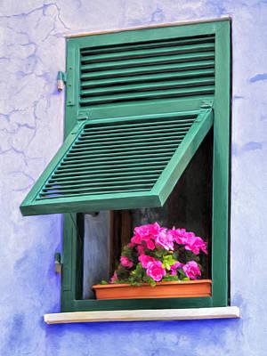 Portofino Italy Painting - Portofino Window Box by Dominic Piperata