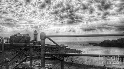 Photograph - Portpatrick From The Promenade In Greyscale  by Joan-Violet Stretch
