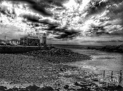 Photograph - Portpatrick In Monochrome by Joan-Violet Stretch