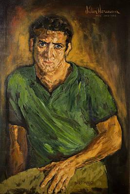 Portrait - Bert Marge Art Print by Joni Herman