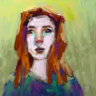 Digital Art - Portrait - 02aug2017 by Jim Vance