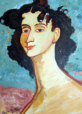 Painting - Portrait 1 by Anand Swaroop Manchiraju