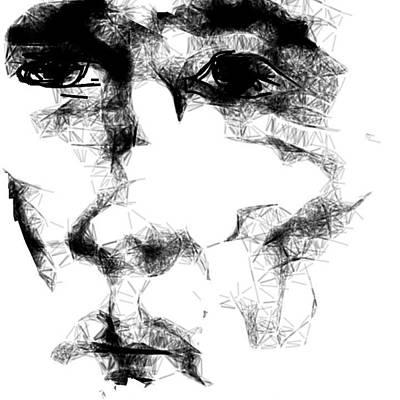 Digital Art - Portrait 1 by Arjun L Sen