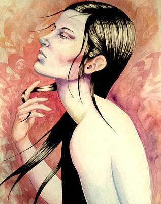 Carolyn Anderson Painting - Portrait #5 by Carolyn Anderson