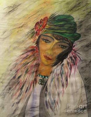 Character Portraits Painting - Portrait Actress by Elena Ivanova