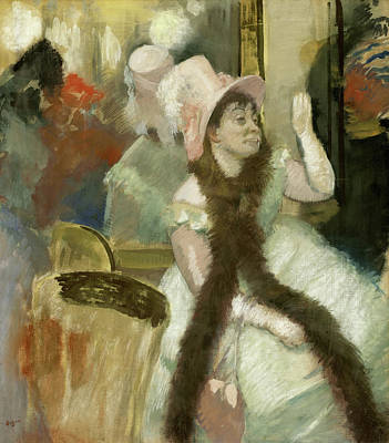 Night Life Painting - Portrait After A Costume Ball by Edgar Degas