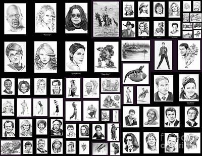 Portrait And Illustrations On Fine Art America Print by Murphy Elliott