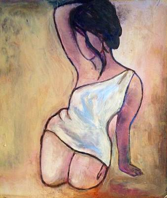 Portrait  Art Print by Anna Lee De Llano