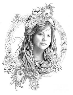 Digital Art - Portrait Art Nouveau by Melodye Whitaker
