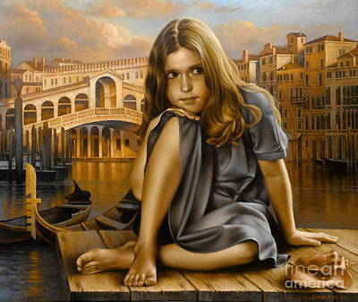 Country Girl Painting - Portrait by Arthur Braginsky