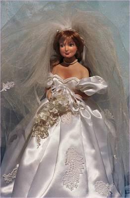 Doll Sculpture - Portrait Bride Doll by Rosemary Babikan