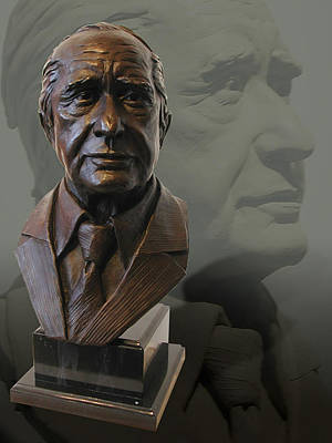 Sculpture - Portrait Bust Of Patron by John Gibbs