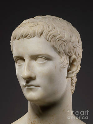 Sculpture - Portrait Bust Of The Emperor Gaius, Known As Caligula by Roman School