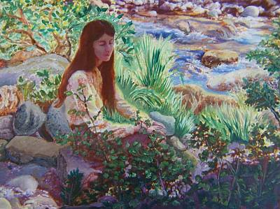 Painting - Portrait By The Stream by Dawn Senior-Trask
