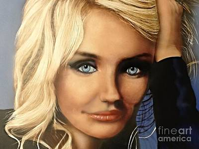 Painting -  Cameron Diaz Portrait  by Robert Monk