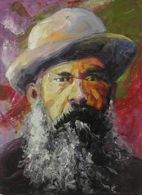 Portrait  Claude Monet 1840-1926 Original by Evi Panteleon