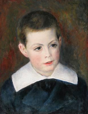 Renoir Painting - Portrait Dandre Berard Enfant by MotionAge Designs