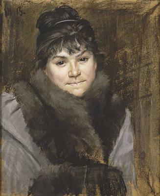 Drawing - Portrait De Mme X by Marie Bashkirtseff