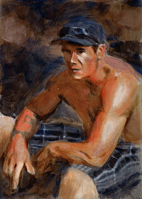 Baseball Art Painting - Portrait Demo by Christopher Reid