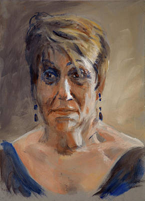 Painting - Portrait Demo Feb 20 by Christopher Reid