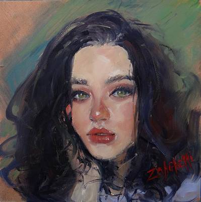 Painting - Portrait Demo Two by Laura Lee Zanghetti