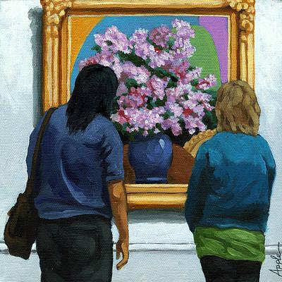 Realism Photograph - Portrait Figurative - Lilacs by Linda Apple
