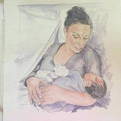 Painting - Portrait by Gloria Turner