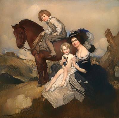 Toddler Portrait Painting - Portrait Group by Mountain Dreams
