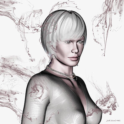 Digital Art - Portrait In Beige by Judi Suni Hall