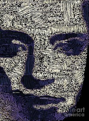 Digital Art - Portrait In Black And White by Rafael Salazar
