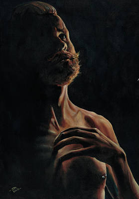 Painting - Portrait In Contemplation by Richard Mountford