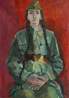 Painting - Portrait In Gimnasterka by Juliya Zhukova