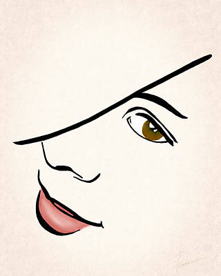 Digital Art - Portrait In Line by Francesa Miller