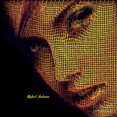 Digital Art - Portrait In Mesh by Rafael Salazar