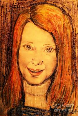 Pastel - Portrait In Oil Pastels by Joan-Violet Stretch
