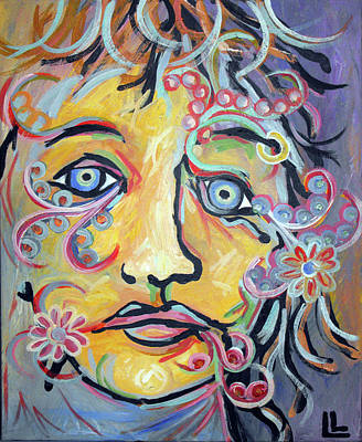 Painting - Portrait In Paisley by Lindi Levison