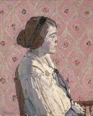 Sit-ins Painting - Portrait In Profile by Harold Gilman