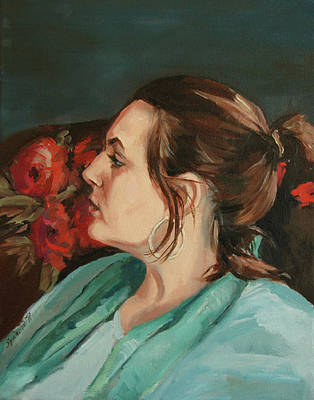 Painting - Portrait In Profile by Synnove Pettersen