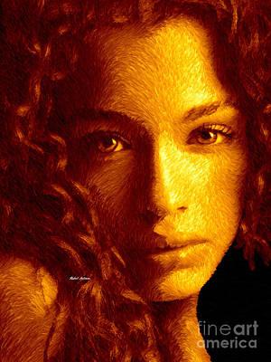 Digital Art - Portrait In Sepia by Rafael Salazar