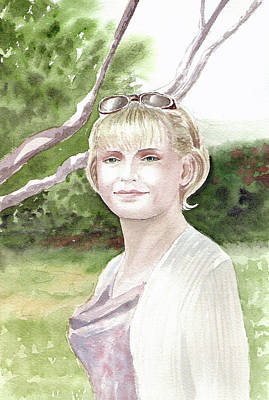 Portraits Royalty-Free and Rights-Managed Images - Portrait by Irina Sztukowski