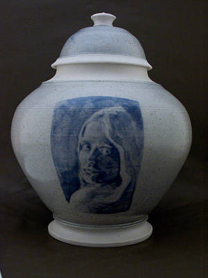 Wheelthrown Ceramic Art - Portrait Jar by Alan Millican